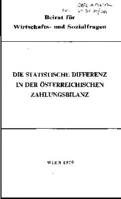 Die statistische Differenz in der österreichischen Zahlungsbilanz