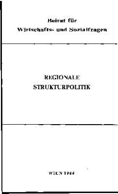 Regionale Strukturpolitik