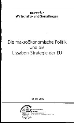 Die makroökonomische Politik und die Lissabon-Strategie der EU