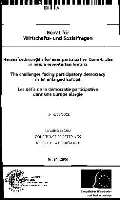 Herausforderungen für eine partizipative Demokratie in einem erweiterten Europa
