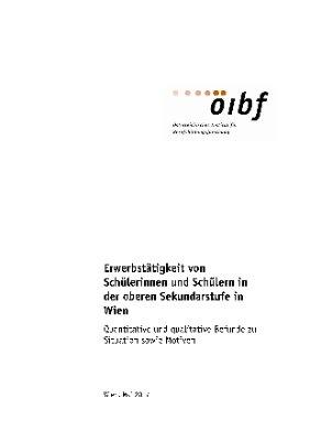 Erwerbstätigkeit von Schülerinnen und Schülern in der oberen Sekundarstufe in Wien