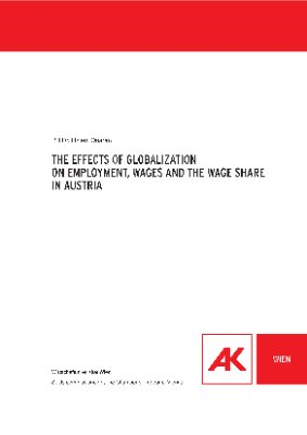 The effects of globalization on employment, wages and the wage share in Austria