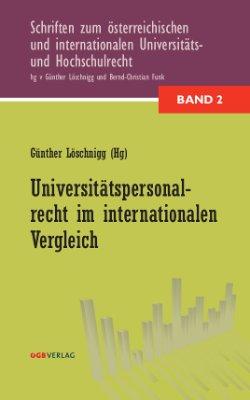 Universitätspersonalrecht im internationalen Vergleich