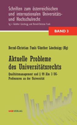 Aktuelle Probleme des Universitätsrechts