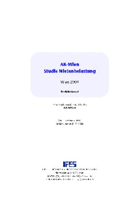 AK-Wien Studie Mietenbelastung