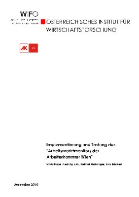 """Implementierung und Testung des """"Arbeitsmarktindex der Arbeiterkammer Wien"""""""