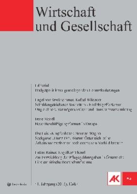 Wirtschaft und Gesellschaft - 2015 Heft 4