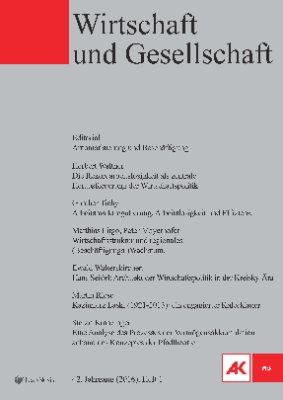 Wirtschaft und Gesellschaft - 2016 Heft 1