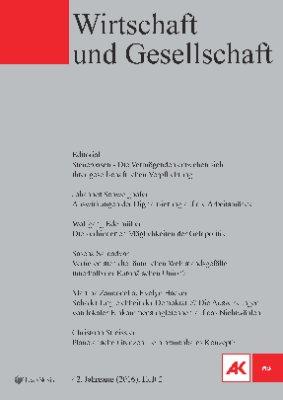 Wirtschaft und Gesellschaft - 2016 Heft 2