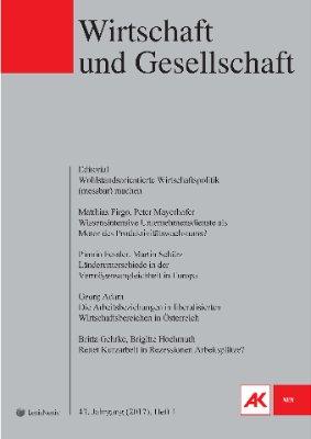 Wirtschaft und Gesellschaft - 2017 Heft 1