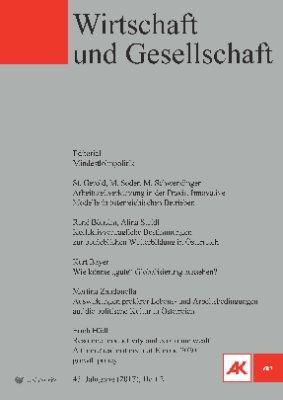 Wirtschaft und Gesellschaft - 2017 Heft 2