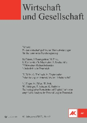 Wirtschaft und Gesellschaft - 2017 Heft 3