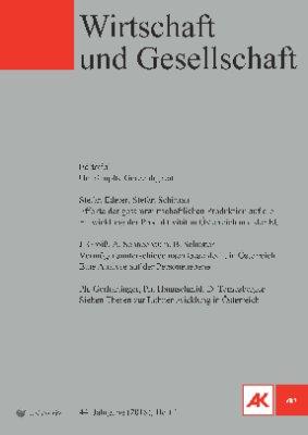 Wirtschaft und Gesellschaft - 2018 Heft 1