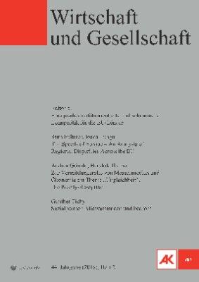 Wirtschaft und Gesellschaft - 2018 Heft 2