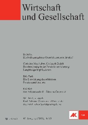 Wirtschaft und Gesellschaft - 2019 Heft 3