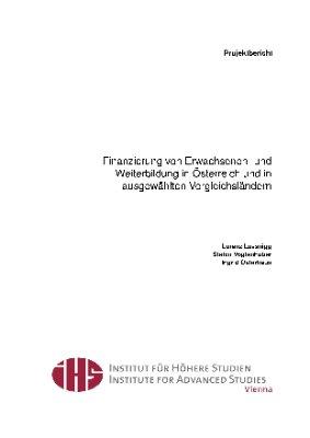 Finanzierung von Erwachsenen- und Weiterbildung in Österreich und in ausgewählten Vergleichsländern