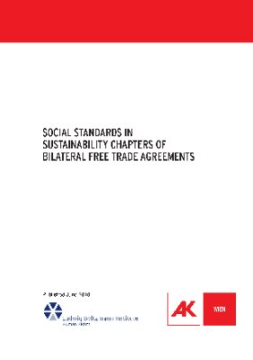 Social Standards in Sustainability Chapters of Bilateral Free Trade Agreements