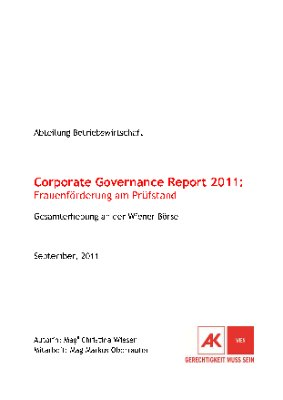 Corporate Governance Report 2011