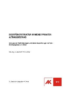 Eigentümerstruktur im Wiener privaten Althausbestand