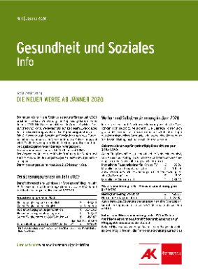 Gesundheit & Soziales - Jänner 2020