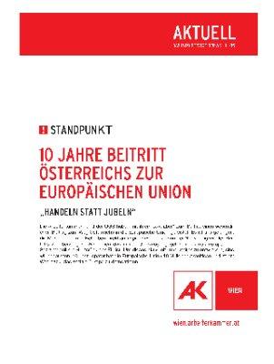 10 Jahre Beitritt Österreichs zur Europäischen Union