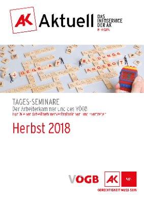 Herbst 2018: Tages-Seminare der Arbeiterkammer und des VÖGB