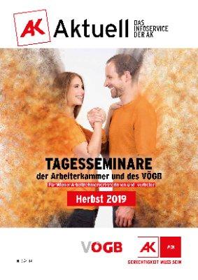 Herbst 2019: Tagesseminare der Arbeiterkammer und des VÖGB