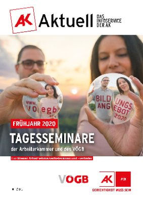 Frühjahr 2020: Tagesseminare der Arbeiterkammer und des VÖGB