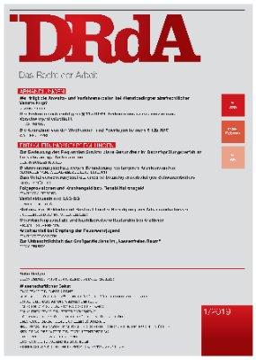 Das Recht der Arbeit - Heft 380