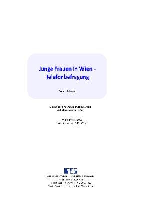 Junge Frauen in Wien - Telefonbefragung