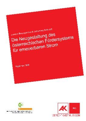 Die Neugestaltung des österreichischen Fördersystems für erneuerbaren Strom