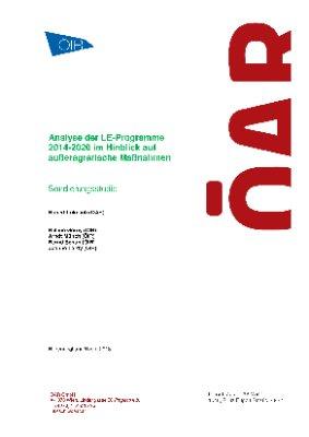 Analyse der LE-Programme 2014-2020 im Hinblick auf außeragrarische Maßnahmen